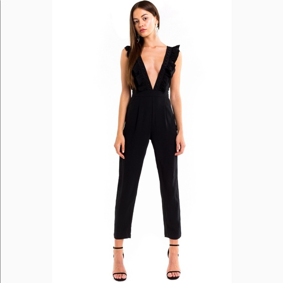 f45fd3c8bf97 WEEKEND SPECIAL NTW Wildfox Davos Deep V Jumpsuit